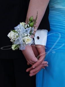 White Rose Wrist Corsage--White rose wrist corsage with white ribbon and babies breath.